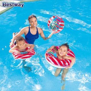 Bestway Kinder Strandset 3 tlg. Strandspielzeug Wasserball Schwimmring Matratze - Vorschau 2