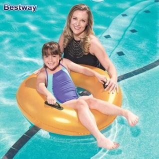 Bestway Schwimmreifen Gold 91cm Schwimmring Schwimmhilfe Badering zwei Griffe