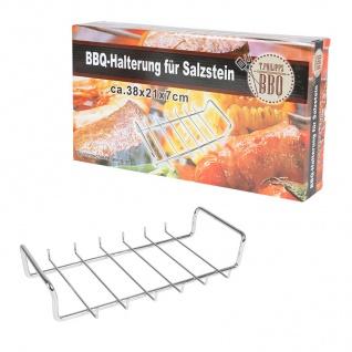 BBQ Halterung für Salzblock Salzstein Grill Backofen Grillzubehör Edelstahl