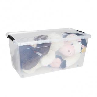 Box-One 80L Aufbewahrungsbox Rollbox Spielzeugbox Ordnungsbox Utensilien Kiste