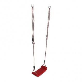 Brettschaukel rot Kinderschaukel Schaukelbrett Schaukelsitz Schaukel Spielturm - Vorschau 2