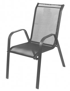 Relax-Stapelstuhl mit Textilenebezug Stapelsessel Gartenstuhl Relaxstuhl Stuhl