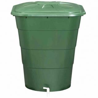 Regentonne eckig 203L mit Deckel und Hahn, Farbe: grün grün, mit Deckel und Hahn