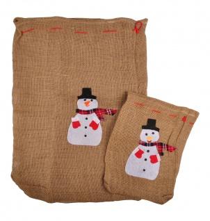 Geschenkesack 2er-Set Jutesack Nikolaussack Geschenkebeutel Geschenkverpackung - Vorschau 2