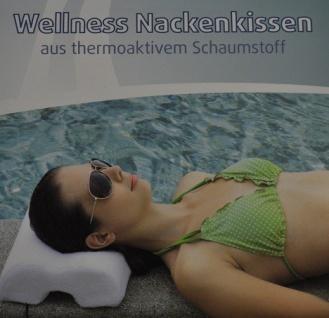 Wellness Nackenkissen Mikrofaser thermoaktiv Schaumstoff Reisekissen Nackenrolle - Vorschau 5
