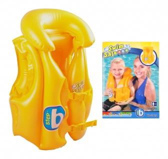 Bestway Kinder Schwimmweste 3-6 Jahre aufblasbar Schwimmhilfe Schwimmkragen