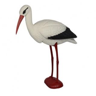 Storch aus Kunststoff Gartenfigur Gartenvogel Gartendekoration Teichdeko Vogel
