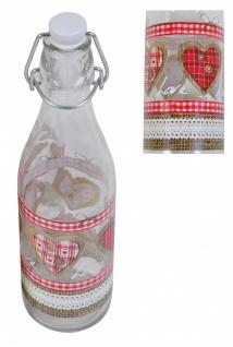 Drahtbügelflasche Country Love 0, 5L Bügelverschluss Saftflasche Trinkflasche