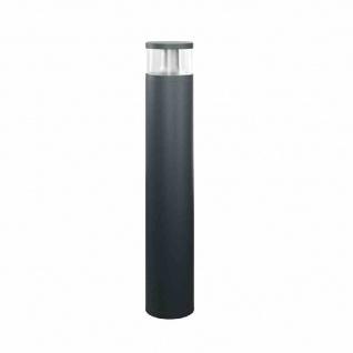 ALVA LED-Pollerleuchte, 18W, 84LEDs, IP65, 3000K, 1150lm, anthrazit, Aluminium, Kunststoff transparent