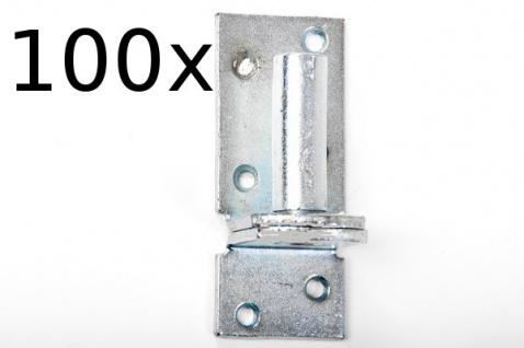 100 Stück Kloben elektrisch verzinkt D 1, 16 mm für Ladenband Plattenhaken Haken