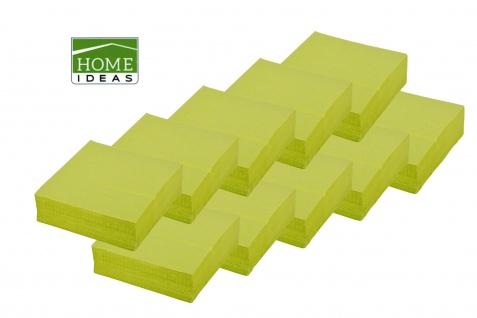 500 Servietten grün 33x33cm 3lagig 1/4 Falz Papierserviette Tischdeko Papiertuch