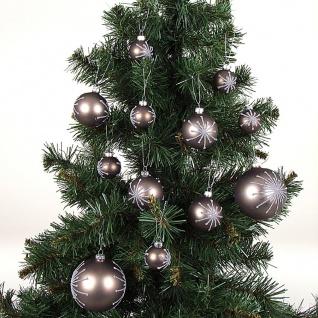 BURI® Weihnachtsbaum 180cm + 24er-Set Weihnachtsbaumkugeln Christbaumkugeln Deko