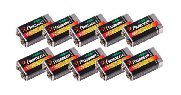 10x 9V Block Batterie Rauchmelder Spielzeug Messgeräte Blockbatterie Batterien