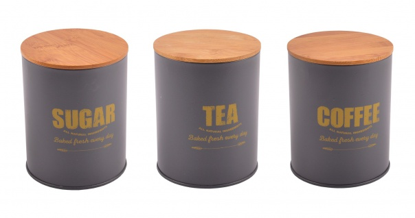 Vorratsdose Kaffeedose Teedose Zuckerdose Metalldose Aufbewahrungsdose Dekodose