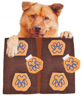 2x Hundepflegeset aus Microfaser mit Hundehandtuch + Waschhandschuh waschbar