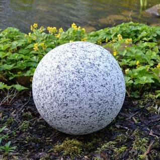 Dekokugel in Granitoptik 30cm Gartenkugel Granitkugel Steinkugel Gartendeko Deko