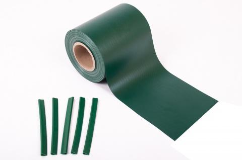 28m² PVC Sichtschutz grün