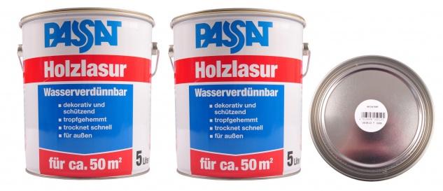 Passat Holzlasur 10 Liter Eiche hell Holzschutz schnelltrocknend Holzfarbe außen