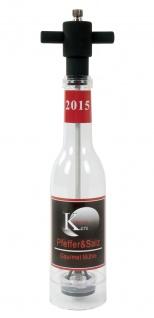 Salz- und Pfeffermühle Bottle Gourmet Flaschenform 210 g Menage Gewürz Streuer
