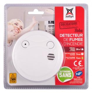 12er Set Xeltys Rauchmelder 5 Jahres Batterie 85dB Feuermelder Rauchwarner Alarm - Vorschau 2