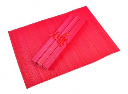 Bambus Platzset 4er Platzdeckchen Tischmatten Platzmatte Untersetzer Tischdecke - Vorschau 2