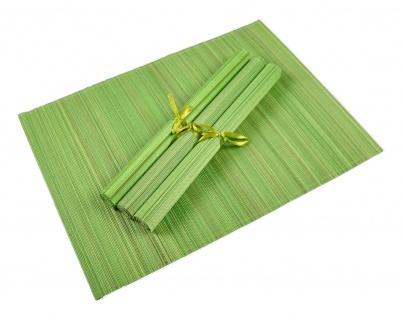 Bambus Platzset 4er Platzdeckchen Tischmatten Platzmatte Untersetzer Tischdecke - Vorschau 3