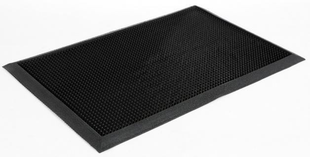 Gummi-Fußmatte 60x40cm schwarz Fußabtreter Türmatte Vorleger Schmutzfangmatte