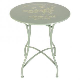 Vintage-Tisch Romantika Beistelltisch Balkontisch Gartentisch Terrasse Metall - Vorschau 1