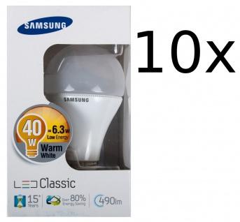 10x Samsung Led 490lm Energiesparlampe E27 Leuchtmittel 6, 3W Glühbirne Glühlampe