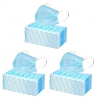 150x Einmal-Mundschutz 3 lagig Mundschutzmaske Atemschutz Mund - Nasenbedeckung