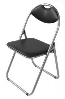 Metall Klappstuhl schwarz Kunststoffpolster Gästestuhl Stuhl Gäste Besucherstuhl