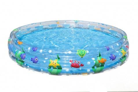 Bestway Planschbecken Meerestiefe Pool 480L 183 x 33cm Schwimmbecken Kinderpool