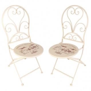 Vintage-Stühle London 2er-Set Gartenstühle Klappstühle Balkonstuhl Metallstuhl