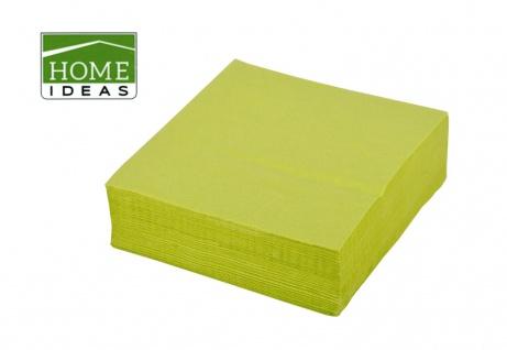 2500 Servietten grün 33x33cm 3-lagig 1/4 Falz Papierserviette Papiertuch Deko