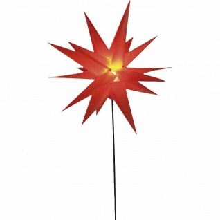 LED Stern rot Ø58cm Weihnachten Leuchtdekoration Fensterdeko X-Mas Leuchtstern