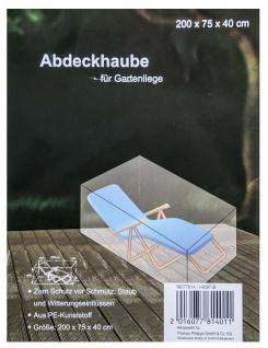Abdeckhaube für Gartenliege 200x75x40cm Staubschutz Möbelschutz Schutzhülle