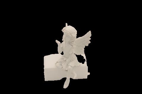 Grabengel sitzend Schutzengel Engelsfigur Dekoengel Dekofigur Gartenfigur
