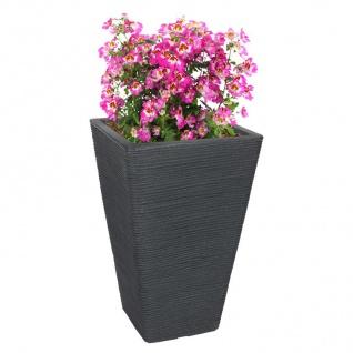 Pflanztopf 55x35x35cm Blumentopf Pflanzkübel Übertopf Blumenkübel Kunststoff