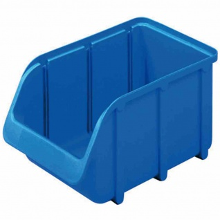 Sichtbox PP Gr 2 blau 215/185x100x75mm Stapelbox Lagerboxen Boxen Sichtlagerbox