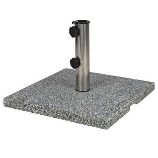 Sonnenschirmständer 20kg Granit Edelstahl Schirmständer Schirmfuß Schirmhalter