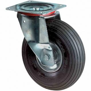 Luft Lenkrolle 260mm Tragfähigkeit 200kg 175x175mm Rollen Lenkrollen Rad Räder