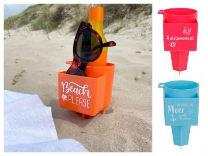Strand Becherhalter Getränkehalter Handyhalter Brillenhalter Flaschenhalter