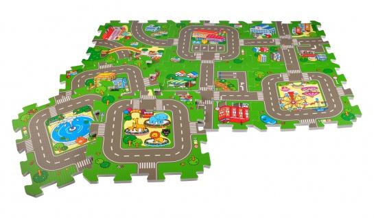 Puzzlematte Straße 9-teilig Spielteppich Spielmatte Puzzleteppich Bodenpuzzle