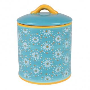 Keramik Keksdose Gebäckdose Plätzchendose Biscuitdose Vorratsdose Deko 14x18, 5cm - Vorschau 2