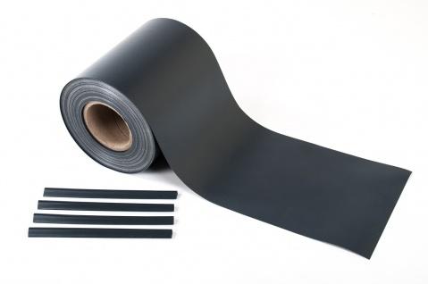 7m² PVC Sichtschutz grau Windschutz Zaunblende Lärmschutz Doppelstabmatten 35m
