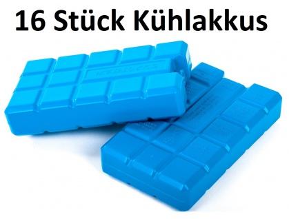 Conna Bride Kühlakkus Akku 16x200ml Kühlelemente Kühlbox Icepack Kühlkissen blau