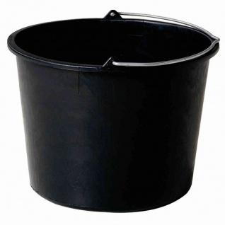 Baueimer 20 L schwarz mit Literskala