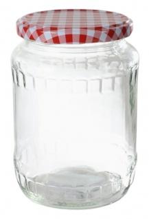 Einmachglas 720ml Vorratsglas Einweckglas Konservenglas Schraubdeckel kariert