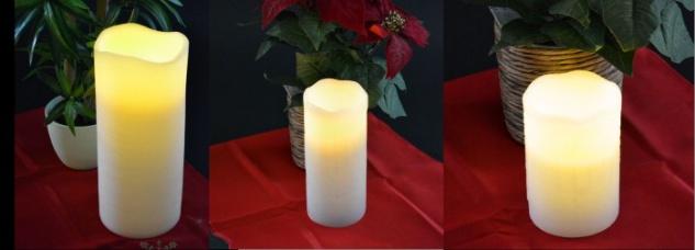 Kerze LED versch. Größen D= 7, 5 cm