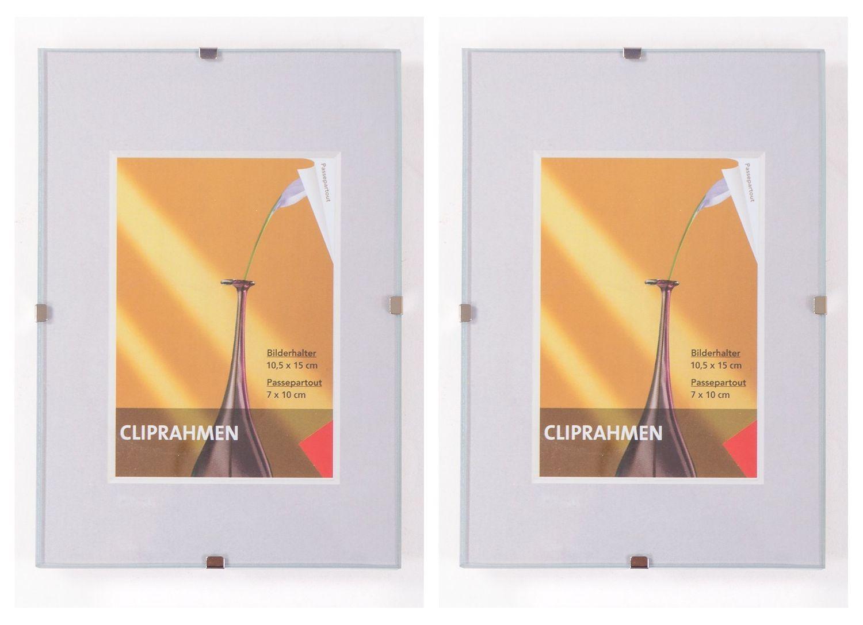 2er Set Rahmenlos Bilderhalter Bilderrahmen 10, 5x15 cm Fotorahmen ...